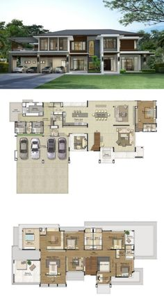 46 ideas house plans sims dream homes cabin plans, house plans, bedro Modern House Floor Plans, Sims House Plans, House Layout Plans, Dream House Plans, House Layouts, Modern House Design, Mansion Floor Plans, 6 Bedroom House Plans, Beautiful House Plans