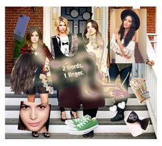 """#PLL4DAYZZ"" by loveydovey17 ❤ liked on Polyvore featuring HEX, River Island, Maybelline, Quay, Marc by Marc Jacobs and Converse"