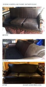 Dye A Worn Sun Faded Leather Couch To Make It Look New Again