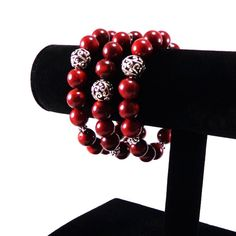 Coral Bracelet/ Red/ Gemstone/ Bracelet/ by angelovajewelry
