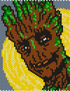 I Am Groot From The Guardians Of The Galaxy Bead Pattern