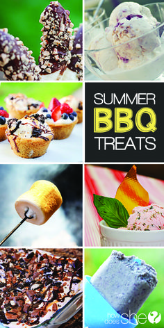 Food and Drink. The BEST Summer BBQ Treats! Homemade ice cream, cookie bowls, and healthy popsicles the whole family will love! howdoesshe