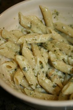 Lola's Homemade Cooking: Penne Parmesan Pesto Pasta