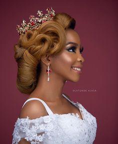 Bride Makeup, Wedding Hair And Makeup, Hair Makeup, Up Hairstyles, Wedding Hairstyles, Blonde Bride, Bridal Hair Inspiration, Melanin Queen, Black Bride