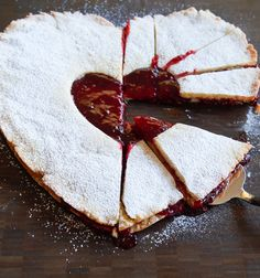 Giant Linzer Cookie! The cutest dessert for a family Valentine dinner! | bakeat350.blogspot.com for The Pioneer Woman Food & Friends