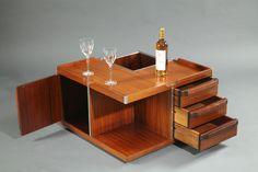 Module de rangement table basse années 60