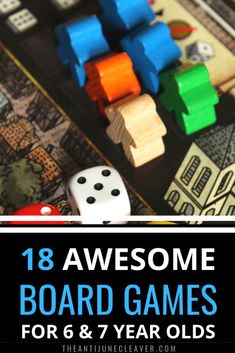 18 Board Games for 6-7 Year Olds the Family Will Love | Anti-June Cleaver #boardgames #gamesfor7yearolds #gamesfor6yearsolds #gamenight #familygamenight #boardgamesfor6yearolds #boardgamesfor7yearolds #familyboardgames #theantijunecleaver @reganajc