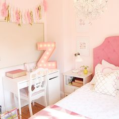 Girls Bedroom Makeover / Collaboration with Etsy Canada #ProjectPinkRoom