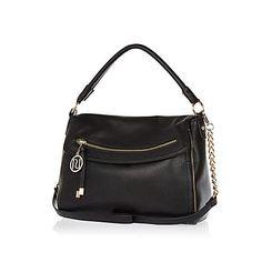 Black fold over slouch bag 33,00 €