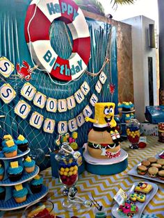 Spongebob Square Pants Birthday Party Ideas | Photo 2 of 33 | Catch My Party
