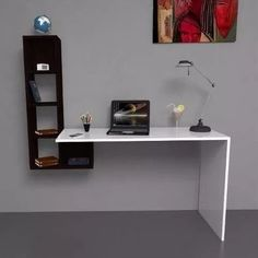 escritorio flotante repisa biblioteca organizador