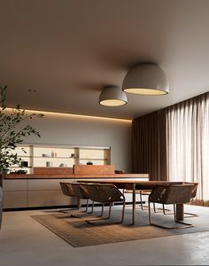 Dynasty with kitchen Thea Inox by ANOVA on Behance Apartment Interior, Kitchen Interior, Room Interior, Home Interior Design, Interior Architecture, Rooms Decoration, Decoration Design, Hidden Lighting, Dining Room Design