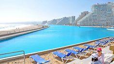 über einen Kilometer lang: der Pool der chilenischen Ferienstadt San Alfonso del Mar
