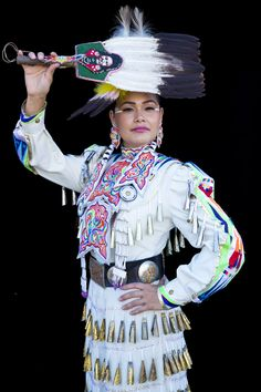 Acosia Red Elk love her concho belt and her fan is very nice also