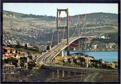 Bosphorus Bridge Opening 1973 Istanbul / Turkey (Old Postcard) Old Pictures, Old Photos, Bosphorus Bridge, Old Postcards, Istanbul Turkey, Golden Gate Bridge, Life Is Beautiful, Land Scape, Vacation