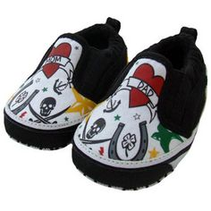 Cool Baby Shower Gifts - Me in Mind Tattoo Slip-On Baby Shoes