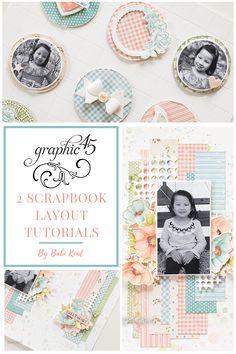 2 Scrapbook Layouts [3 Video Tutorials] Scrapbook Layouts, Scrapbook Paper, Scrapbooking, Little Darlings, Video Tutorials, The Incredibles, Crafts, Manualidades, Handmade Crafts