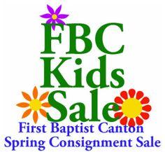 First Baptist Church Canton GA Kid's Consignment Sale