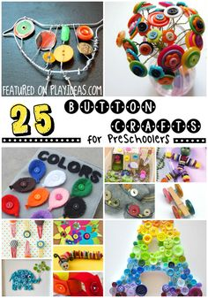 These button craft ideas are so cute and perfect and your kid will love them.