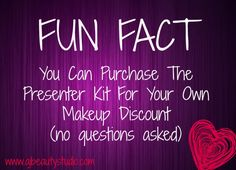 Start your own makeup business or just get a discount on your makeup.  We welcome kitnappers without asking any questions.  Purchase the Younique presenter kit for $99 ($240+ worth of makeup) #youniquekitnapperswelcome
