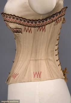 Tasha Tudor Collection: cotton boned and corded corset, 1875-90s