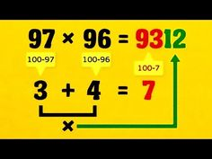Fast Math Tricks - multiplication of two and three digit numbers. Simple Math, Basic Math, Multiplication Tricks, Daily Math, Fun Math Games, Daily Activities, Math Help, Learn Math, Positive Reinforcement