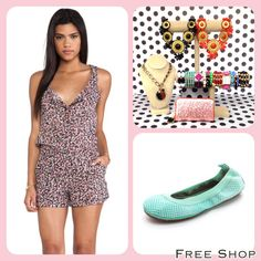 Easter is only a few days away. Free Shop has Everything you need to fill your basket. Our Adorable Splendid floral romper is Perfect for family brunch!! Gorgeous Jewelry and Yosi Samra flats make the outfit!!