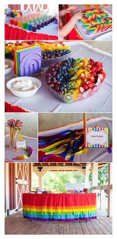 The rainbow birthday party Jennifer planned turned out perfect! It was really fun to help her.Wendy Schultz onto Kids Party Ideas. My Little Pony Birthday Party, Rainbow Birthday Party, Rainbow Theme, First Birthday Parties, Birthday Party Themes, Rainbow Colours, 5th Birthday, Birthday Ideas, Rainbow Baby