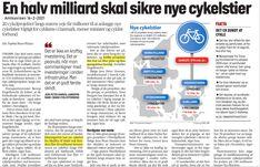 Ja - i forhold til hvad der plejer at blive givet til cykling, var det da et pænt sttort beløb. Men fortsætter vi som man plejer, får vi ikke rykket noget som helts på danskernes transport vaner. Transport, Politics