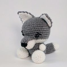Wilson the Wolf amigurumi pattern by Theresas Crochet Shop