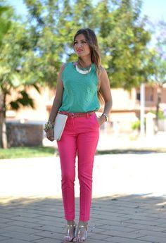 pantalones rosados fluor - Buscar con Google