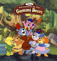 Gummi Bears, bouncing here and there and everywhere. High adventure that's beyond compare, they are the Gummi Bears! Old School Cartoons, 90s Cartoons, Classic Cartoon Characters, Classic Cartoons, Walt Disney, 90s Childhood, My Childhood Memories, Childhood Quotes, Vintage Cartoons