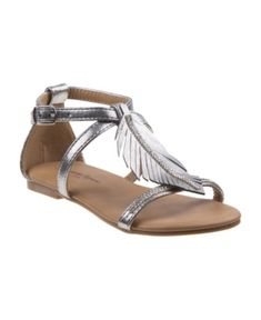 Nanette Lepore Kids' 's Every Step Open Toe Sandals In Silver Kids Sandals, Open Toe Sandals, Ankle Strap Sandals, Nanette Lepore, Silver Rhinestone, Mens Gift Sets, Baby Clothes Shops, Cute Designs, Girls Shoes