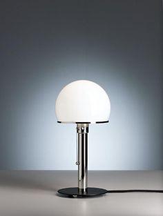 WG 25 GL / WG25GL Wagenfeld Tischleuchte von #Tecnolumen Bauhaus, Table Lamp, Lighting, Home Decor, Window Sill, Bedside Lamp, Desk Lamp, Ceiling Lights, Table Lamps