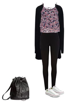 """""""What I wore on the first day of school"""" by jumpkat ❤ liked on Polyvore featuring River Island, maurices, Converse and H&M"""