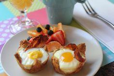 Bacon bowl w/ eggs, yum!