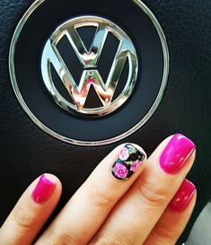 Hello spring Spring nails with accent #FrenchTipNails