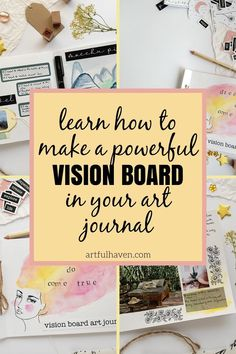 Vision Journal Ideas, Bullet Journal Vision Board, Bullet Journal Inspiration, Small Journal, Creative Journal, Journal Prompts, Art Journals, Handwritting, Creating A Vision Board