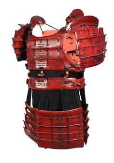 Samurai Armour, red - Body Armour - Leather Armour - Armour