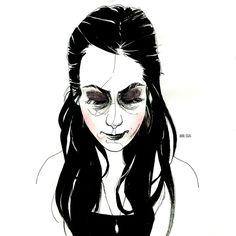 Portraits by Anna Craig, via Behance