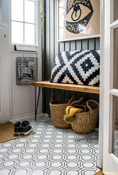 How to Wallpaper a Floor - Rental Apartment Ideas | Apartment Therapy