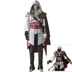 Game Assassin's Creed II Ezio Auditore da Firenze Cosplay Costume D113