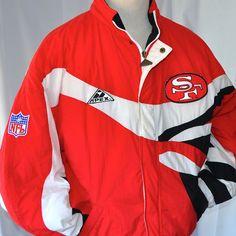 SF 49ers Vintg Large Jacket Apex One NFL Authentic Pro Line Parka San Francisco
