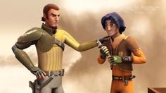 Kanan is teaching Ezra the ways of the Jedi...it is not easy!