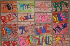 Graffiti. 5th graders would be crazy for this!