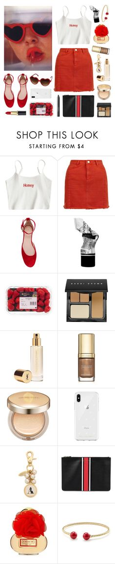 """""""Scarlet Honey"""" by sophiehackett ❤ liked on Polyvore featuring RED Valentino, Aesop, NARS Cosmetics, Bobbi Brown Cosmetics, Yves Saint Laurent, Dolce&Gabbana, AmorePacific, Rebecca Minkoff, Lenora Dame and Givenchy"""