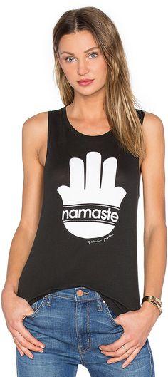 Spiritual Gangster Namaste Stripes Muscle Tank