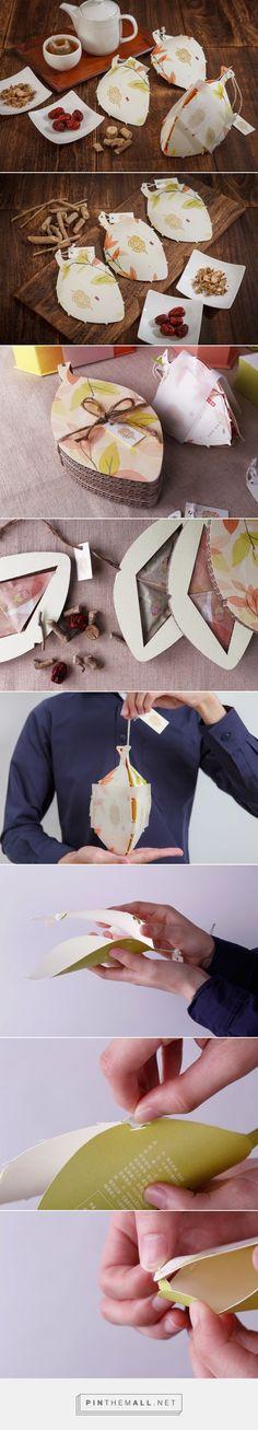 Good Health tea packaging design by YanCheng Su & Hou Jia Yu - http://www.packagingoftheworld.com/2017/06/ciwujia-kang-student-project.html
