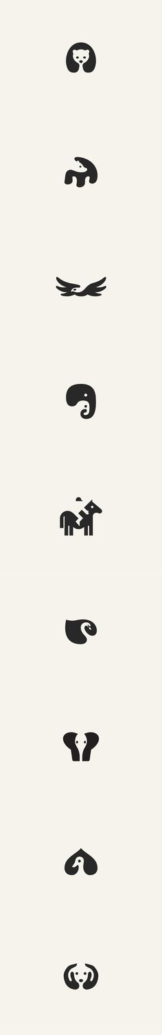 The designer utilizes the empty space to contribute to the animal's shape.