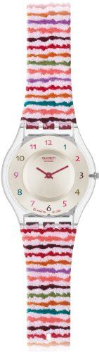 Swatch Women's CORE COLLECTION SFP113 Red Plastic Quartz Watch with Silver Dial